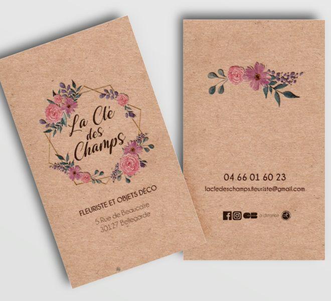 Cartes de visite La Clé des Champs
