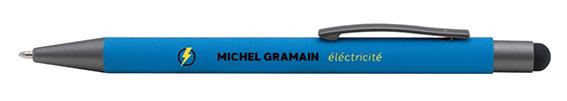 stylo bleu SATRDUST COMMUNICATION MICHEL GRAMAIN
