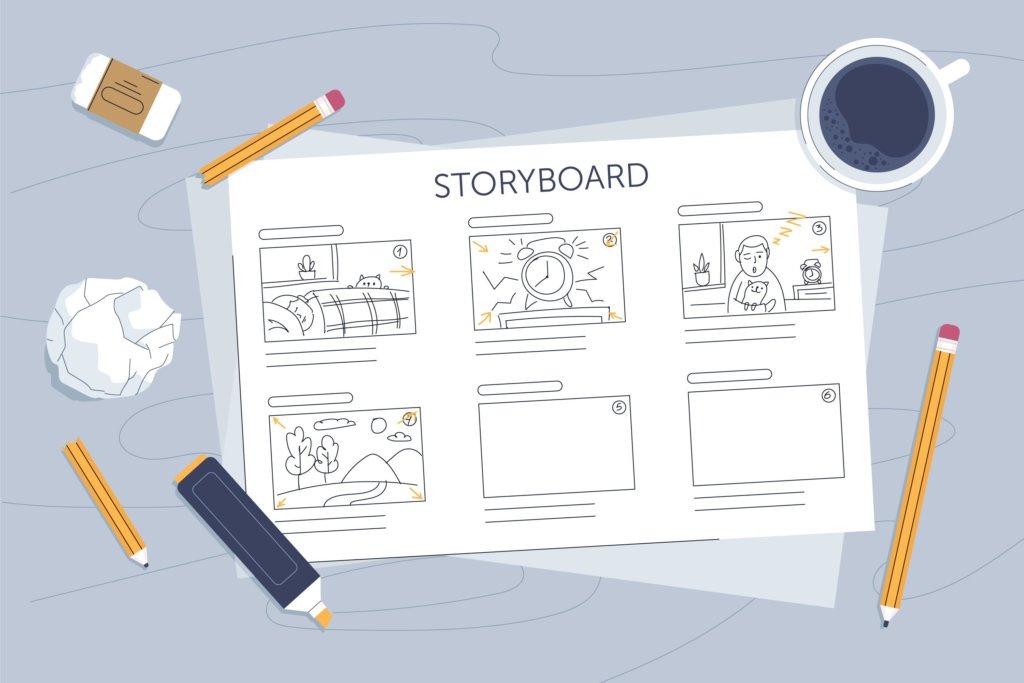 Storyboard motion design